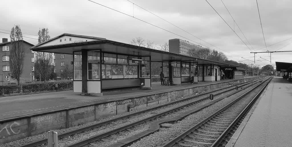 Perron på Lyngby Station